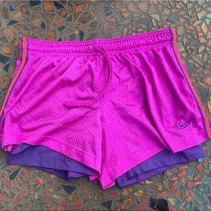 FREE gift inc! Fuschia Nike Lined Running Shorts